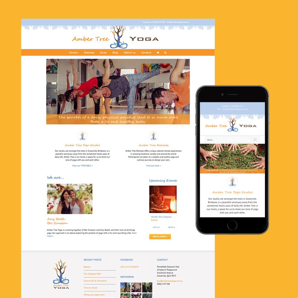 amber tree yoga website design