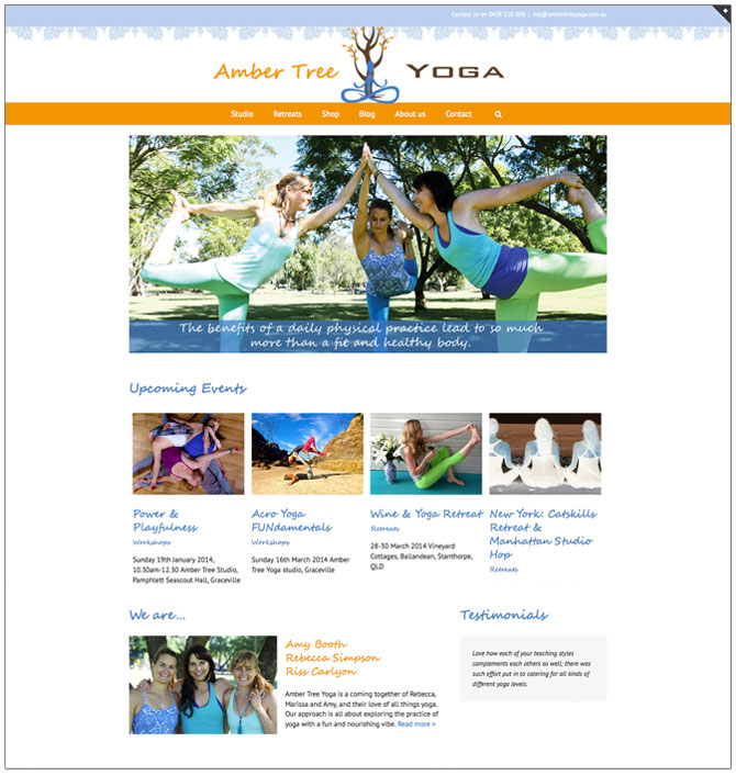 amber tree yoga website