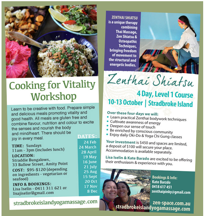 stradebroke yoga flyer design