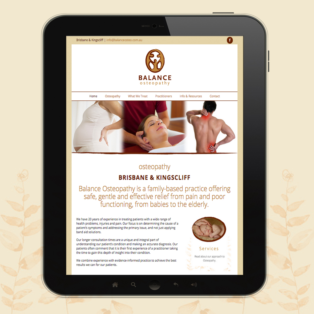 balance osteopathy website