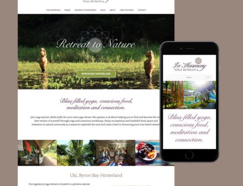 In Harmony Yoga Retreats Website