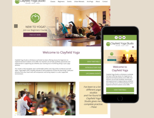 Clayfield Yoga Studio Website