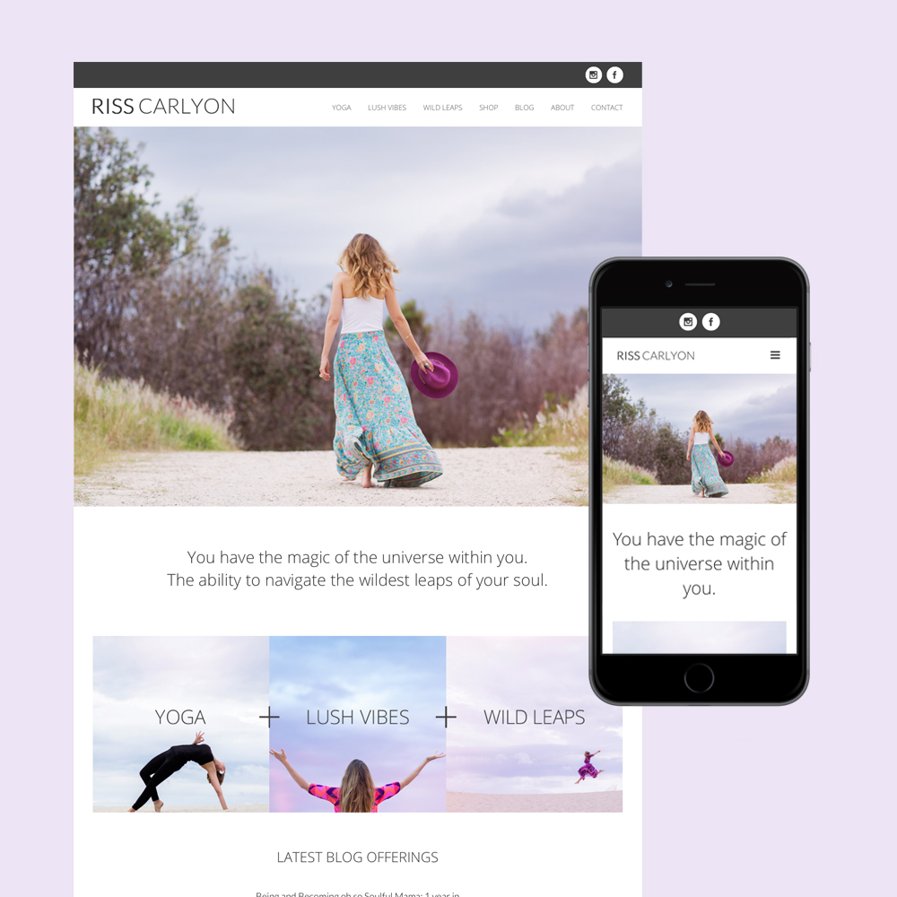 riss carlyon reiki website design