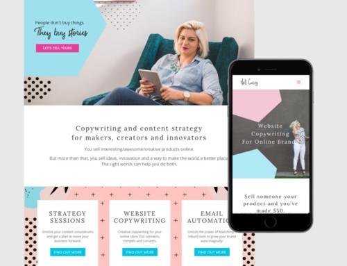 Nell Casey Website Design