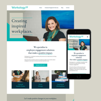 workology co website design