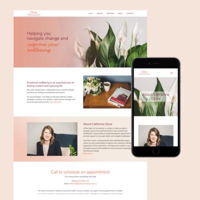 dove psychology website design melbourne